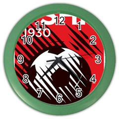 Crest Of The Albanian National Football Team Color Wall Clocks