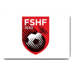 Crest Of The Albanian National Football Team Large Doormat