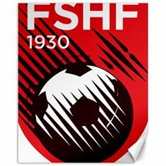 Crest Of The Albanian National Football Team Canvas 11  X 14