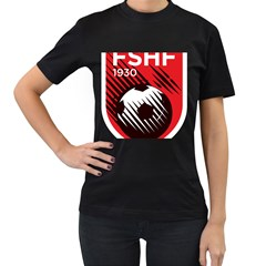 Crest Of The Albanian National Football Team Women s T Shirt (black)