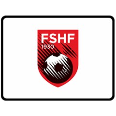 Crest Of The Albanian National Football Team Fleece Blanket (large)