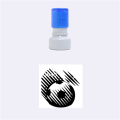 Crest Of The Albanian National Football Team Rubber Round Stamps (small)
