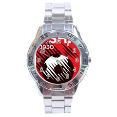 Crest Of The Albanian National Football Team Stainless Steel Analogue Watch
