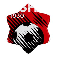 Crest Of The Albanian National Football Team Snowflake Ornament (2 Side)