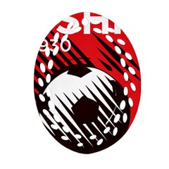 Crest Of The Albanian National Football Team Ornament (oval Filigree)