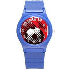 Crest Of The Albanian National Football Team Round Plastic Sport Watch (s)