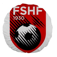 Crest Of The Albanian National Football Team Large 18  Premium Round Cushions