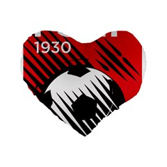 Crest Of The Albanian National Football Team Standard 16  Premium Heart Shape Cushions