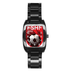 Crest Of The Albanian National Football Team Stainless Steel Barrel Watch