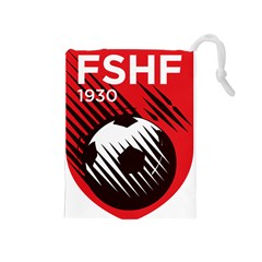 Crest Of The Albanian National Football Team Drawstring Pouches (medium)