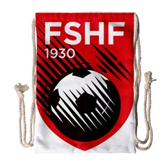 Crest Of The Albanian National Football Team Drawstring Bag (large)