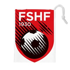 Crest Of The Albanian National Football Team Drawstring Pouches (extra Large)