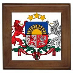 Coat Of Arms Of Latvia Framed Tiles