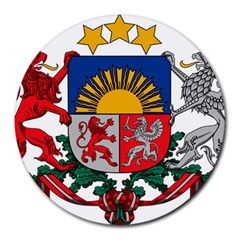Coat Of Arms Of Latvia Round Mousepads
