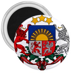 Coat Of Arms Of Latvia 3  Magnets