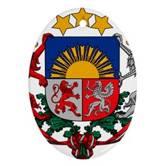 Coat Of Arms Of Latvia Ornament (oval)