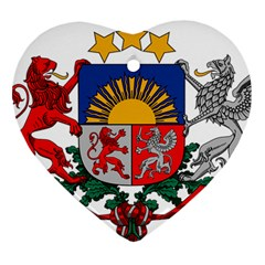 Coat Of Arms Of Latvia Ornament (heart)