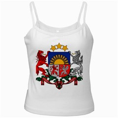 Coat Of Arms Of Latvia White Spaghetti Tank