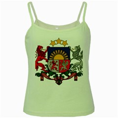 Coat Of Arms Of Latvia Green Spaghetti Tank