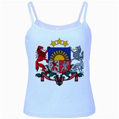 Coat Of Arms Of Latvia Baby Blue Spaghetti Tank