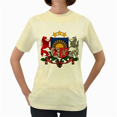 Coat Of Arms Of Latvia Women s Yellow T Shirt