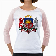 Coat Of Arms Of Latvia Girly Raglans