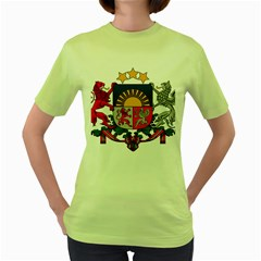 Coat Of Arms Of Latvia Women s Green T Shirt
