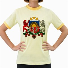 Coat Of Arms Of Latvia Women s Fitted Ringer T Shirts