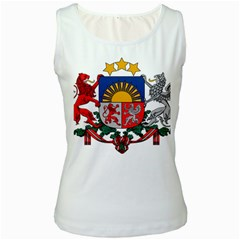Coat Of Arms Of Latvia Women s White Tank Top