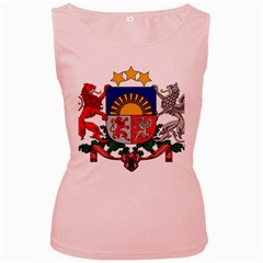 Coat Of Arms Of Latvia Women s Pink Tank Top