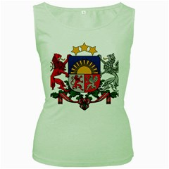 Coat Of Arms Of Latvia Women s Green Tank Top