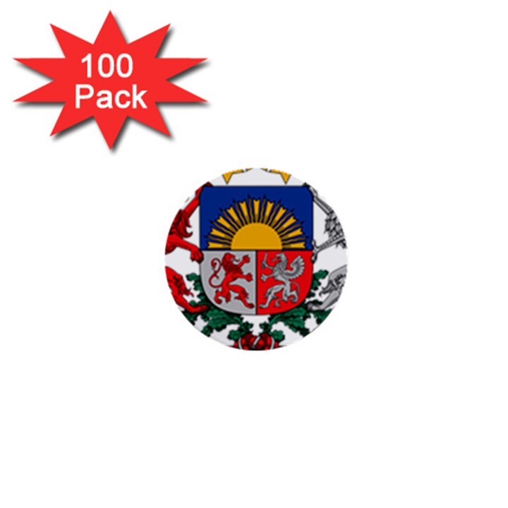 Coat Of Arms Of Latvia 1  Mini Buttons (100 pack)