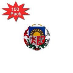 Coat Of Arms Of Latvia 1  Mini Magnets (100 Pack)