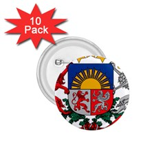 Coat Of Arms Of Latvia 1 75  Buttons (10 Pack)