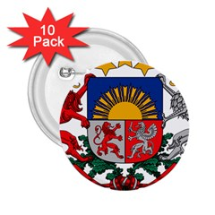 Coat Of Arms Of Latvia 2 25  Buttons (10 Pack)