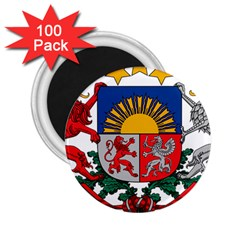 Coat Of Arms Of Latvia 2 25  Magnets (100 Pack)