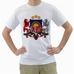 Coat Of Arms Of Latvia Men s T Shirt (white) (two Sided)