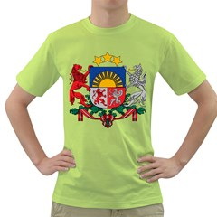 Coat Of Arms Of Latvia Green T Shirt