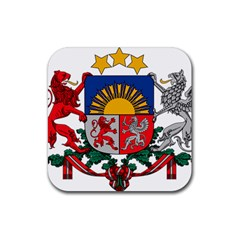 Coat Of Arms Of Latvia Rubber Coaster (square)