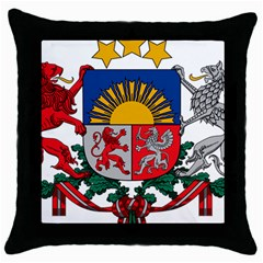 Coat Of Arms Of Latvia Throw Pillow Case (black)