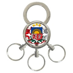 Coat Of Arms Of Latvia 3 Ring Key Chains