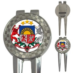 Coat Of Arms Of Latvia 3 In 1 Golf Divots