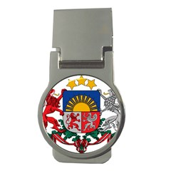 Coat Of Arms Of Latvia Money Clips (round)