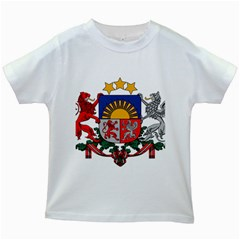 Coat Of Arms Of Latvia Kids White T Shirts