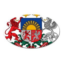 Coat Of Arms Of Latvia Oval Magnet