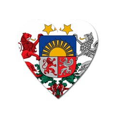 Coat Of Arms Of Latvia Heart Magnet