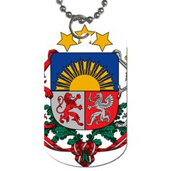 Coat Of Arms Of Latvia Dog Tag (one Side)