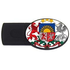 Coat Of Arms Of Latvia Usb Flash Drive Oval (2 Gb)