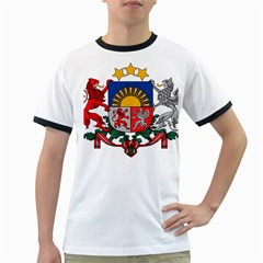 Coat Of Arms Of Latvia Ringer T Shirts