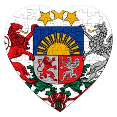 Coat Of Arms Of Latvia Jigsaw Puzzle (heart)